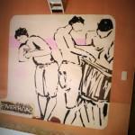Fresque Baigneurs Goa